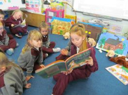 Reading with Friends in Room 4!