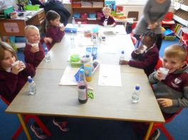 Senior Infants following Instructions